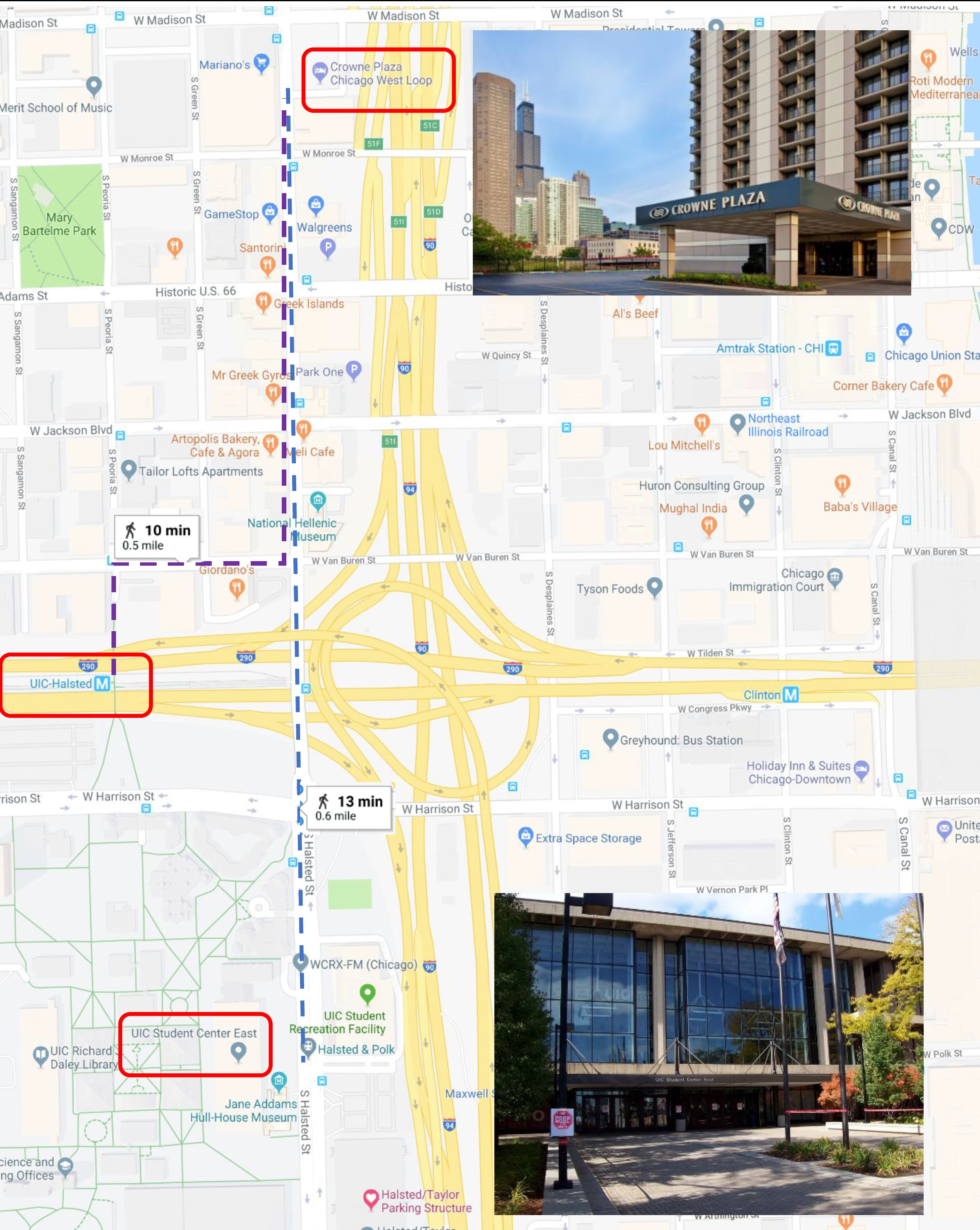 Chicago Loop Hotels Map on